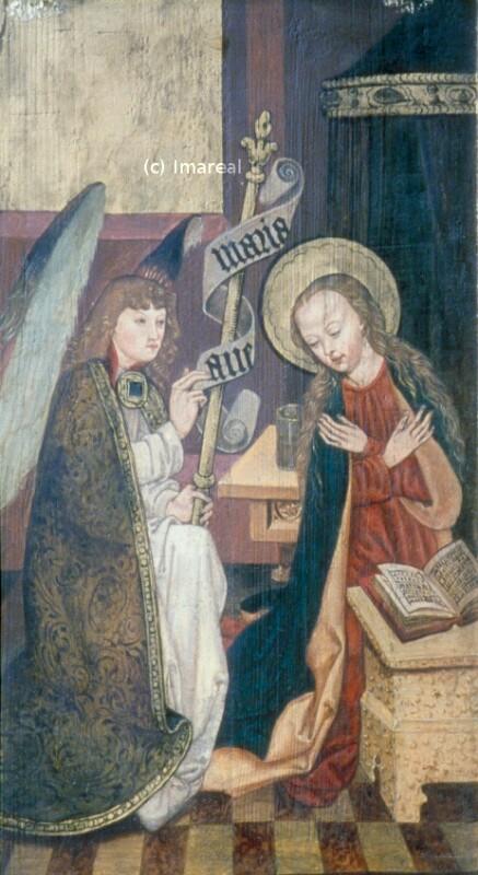 Verkündigung an Maria von Meister des Veiprnice Altars
