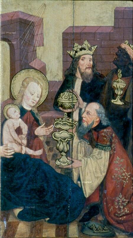 Anbetung der Könige von Meister des Veiprnice Altars
