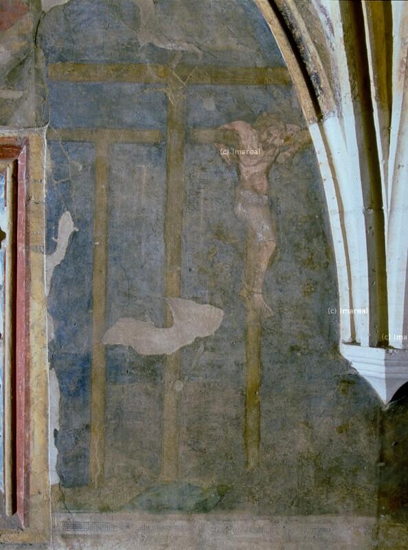 Golgotahügel mit drei Kreuzen von Meister des Emauszyklus