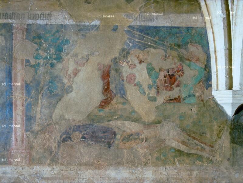 David mit dem Haupt des Goliat von Meister des Emauszyklus