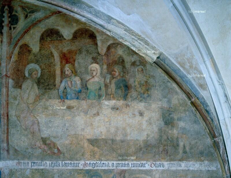 Gastmahl in Bethanien von Meister des Emauszyklus