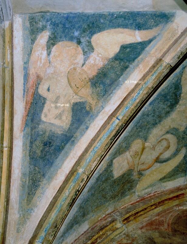 Engel musizierend von Meister des Emauszyklus
