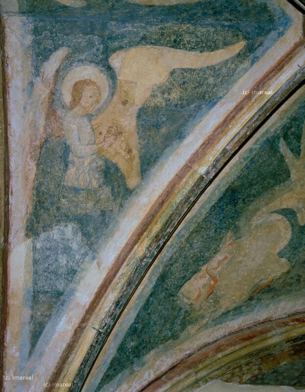 Engel mit Psalterium von Meister des Emauszyklus