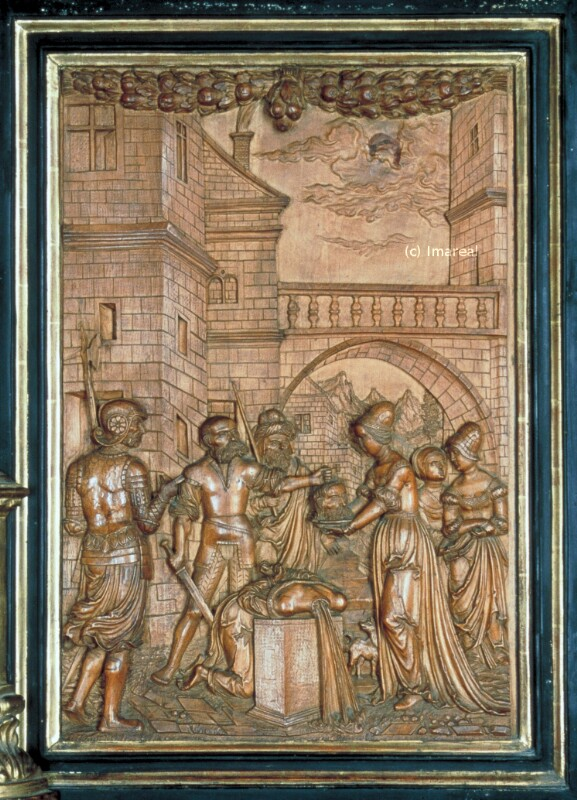 Enthauptung des Hl. Johannes des Täufers von Meister I. P.