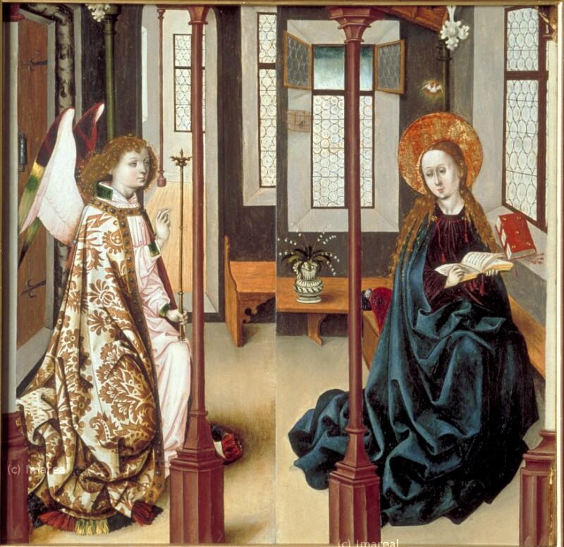 Verkündigung an Maria von Meister des Kreuzigungstriptychons