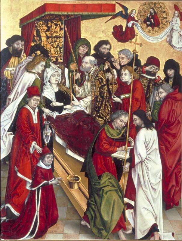 Tod Mariens von Meister des Kreuzigungstriptychons