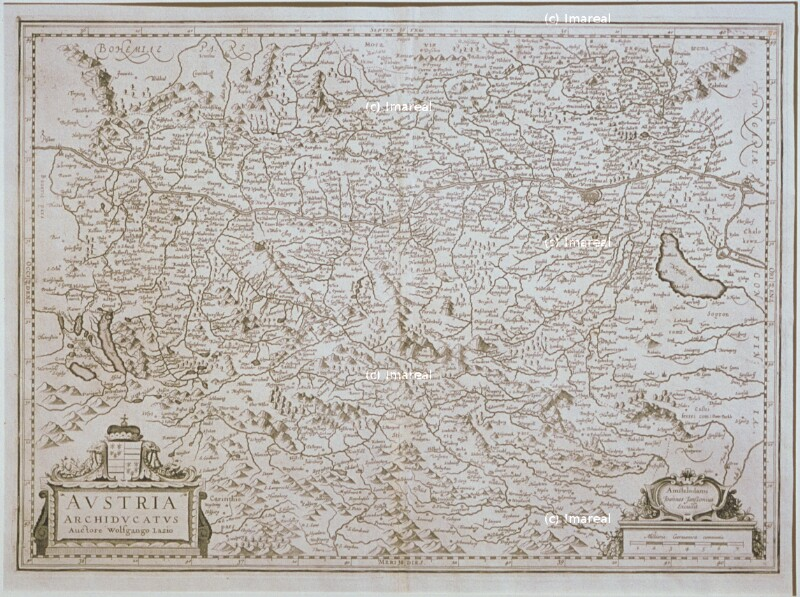 Landkarte Österreich von Lazius Wolfgang