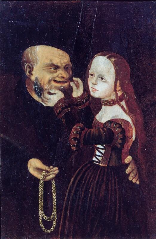 Ungleiches Paar von Cranach-Kopie