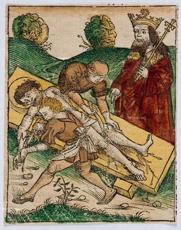 Schindung des Hl. Bartholomäus von Pleydenwurff-Wolgemut-Umkreis
