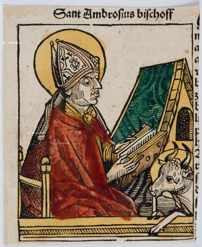 Hl. Ambrosius von Pleydenwurff-Wolgemut-Umkreis