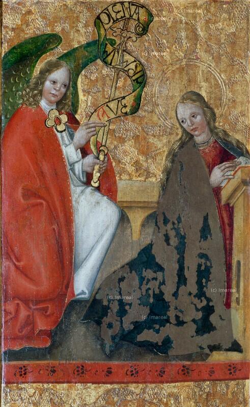 Verkündigung an Maria von Meister des Dreikönigsaltars von Paludzka