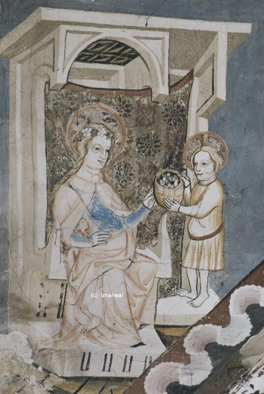 Hl. Dorothea und Botenknabe