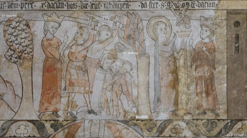 Hl. Georg und König Dacian von