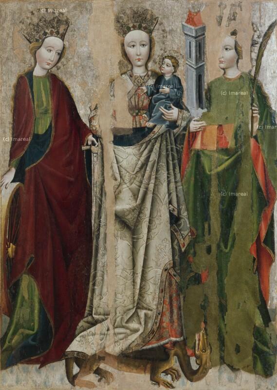 Hl. Katharina von Meister des Triptychons von Strazky
