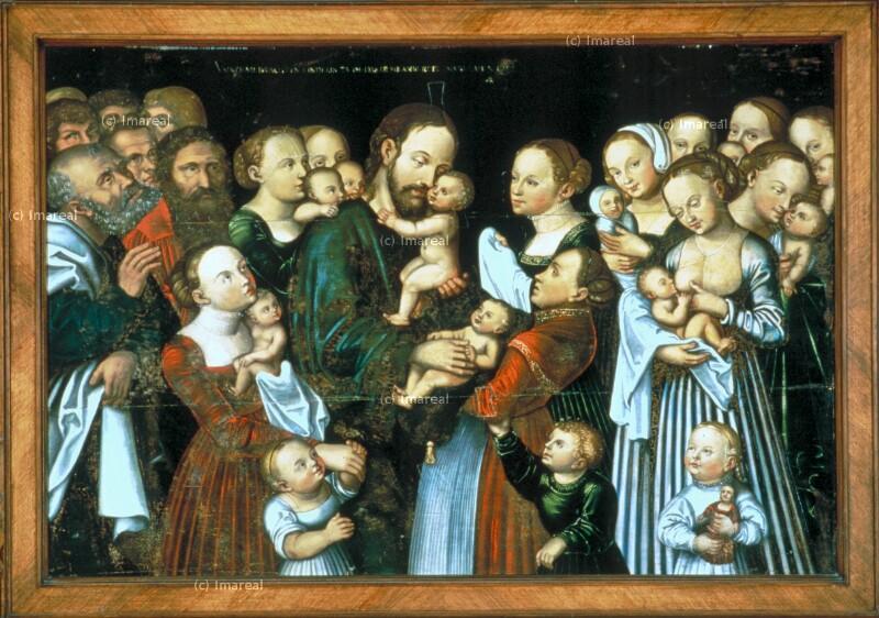Christus segnet die Kinder von Cranach Lucas der Ältere