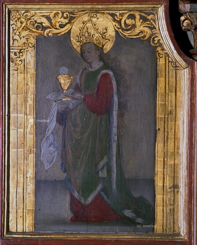 Hl. Barbara von Holbein-Kopie