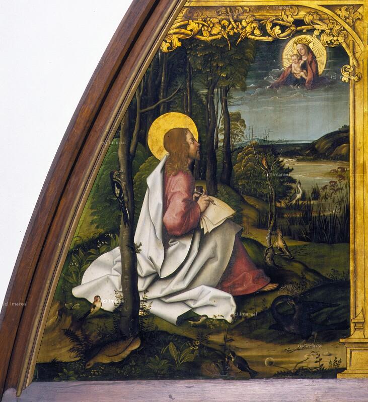Hl. Johannes Evangelist auf Patmos von Burgkmair Hans der Ältere
