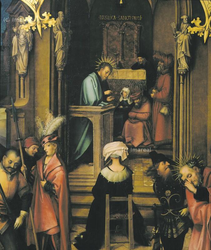 Predigt des Hl. Paulus von Holbein Hans der Ältere