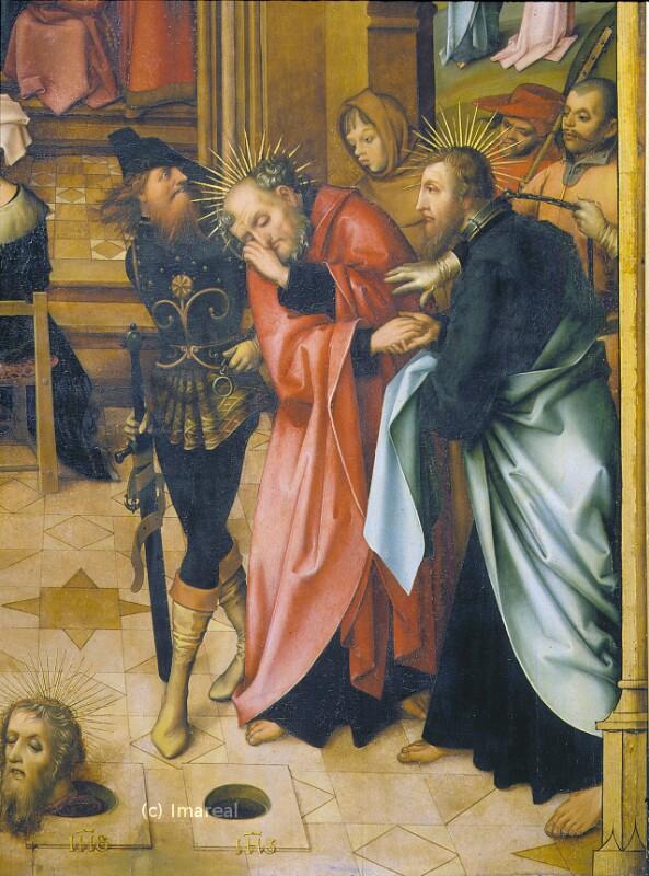 Abschied der Hll. Petrus und Paulus von Holbein Hans der Ältere