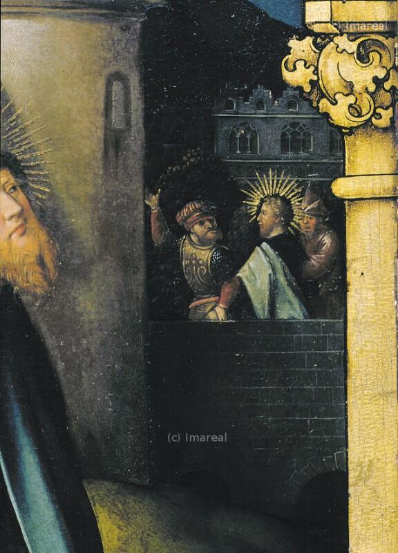 Zwei Begleiter führen den Hl. Paulus nach Damaskus von Holbein Hans der Ältere