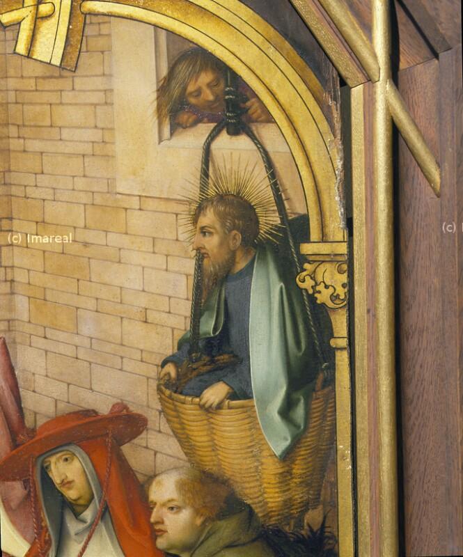 Flucht des Hl. Paulus über die Stadtmauer von Damaskus von Holbein Hans der Ältere