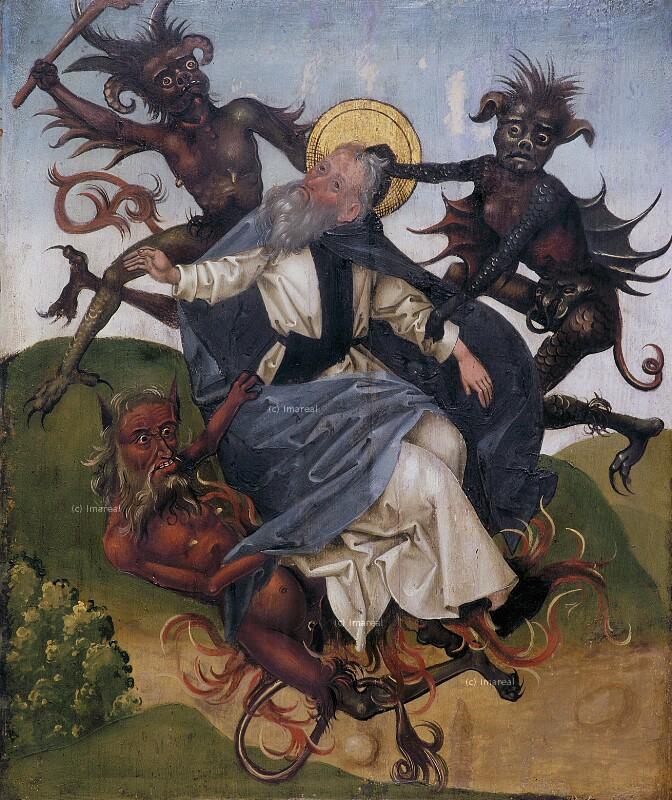 Hl. Antonius wird von Teufeln gepeinigt von Koler Joseph