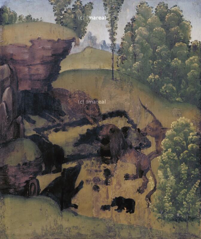 Wilde Tiere öffnen das Grab des Hl. Antonius von Koler Joseph