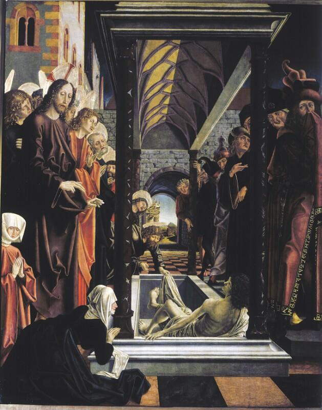Erweckung des Lazarus von Pacher Michael