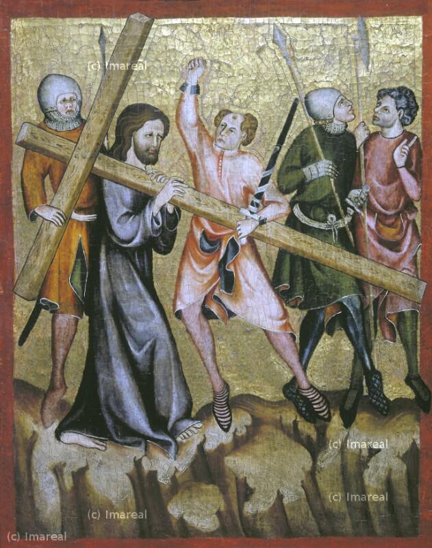 Kreuztragung Christi von Meister der Rückseite des Verduner Altars-Umkreis