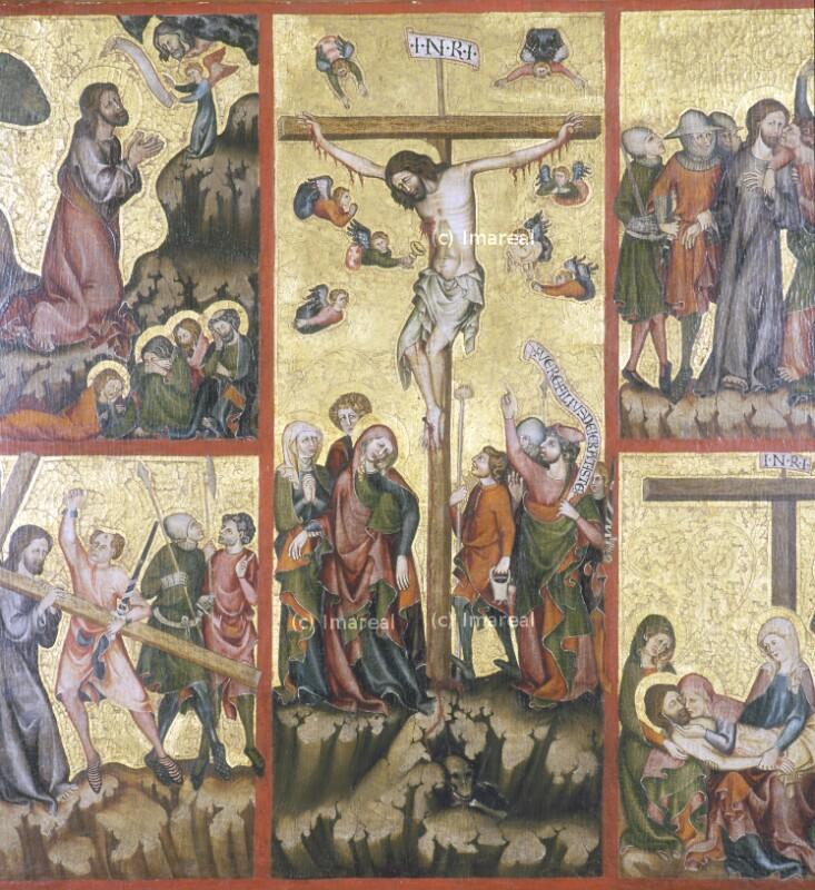 Kreuzigung Christi von Meister der Rückseite des Verduner Altars-Umkreis