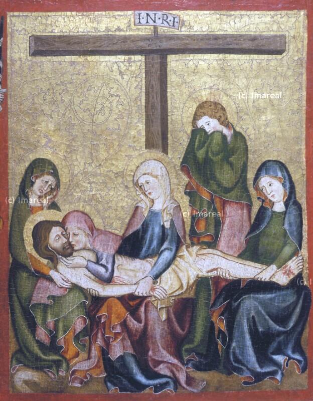 Beweinung Christi von Meister der Rückseite des Verduner Altars-Umkreis