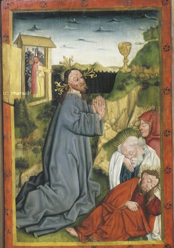 Gebet Jesu am Ölberg von Meister des Albrechtsaltars-Umkreis