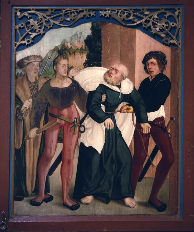 Gefangennahme des Hl. Petrus von Schäufelein Hans
